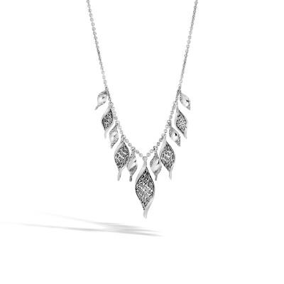 521c633cd51da Classic Chain Wave Necklace in Silver - NB90071X16-18