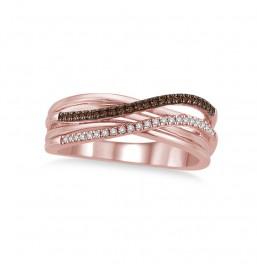 1/5 Carat T.W. Brown & White Diamond Ring.