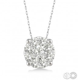 .12ct tw LoveBright Diamond Pendant
