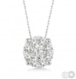 .12ct tw LoveBright Diamond Pendant