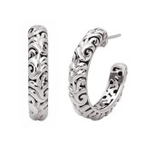 Sterling Silver Ivy Hoops