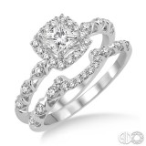 14k White Gold 2 pc bridal set with .25 princess center