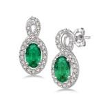 Emerald And Diamond Earrings.