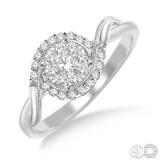 14k White Gold .30ct tw LoveBright Diamond Wedding Set