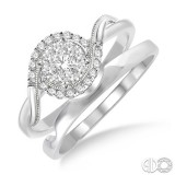 14k White Gold LoveBright 2 Ring Set .30ct tw