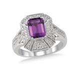 Amethyst And Diamond Ring.
