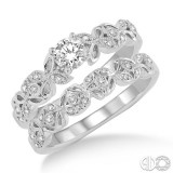 14k White Gold 2 pc bridal set
