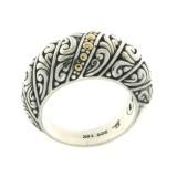 Samuel B. Sterling Silver/18K Balinese Design Ring