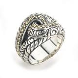 Samuel B. Sterling Silver/18K Balinese Interlock Swirl Design Ring