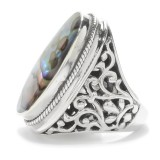 Samuel B. Sterling Silver Oval Abalone Shell Ring