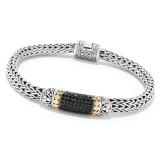 Samuel B. Sterling Silver/18K Black Spinel Bracelet