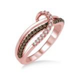 1/4 Carat T.W. Brown & White Diamond Ring.