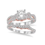 5/8 Carat T.W. Bridal Set (1/4 Carat Round-Cut Center).