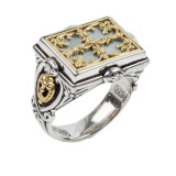 Sterling Silver and 18kt Yellow Gold Mother of Pearl RING