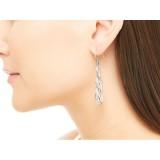 Bamboo Linear Drop Earring in Silver