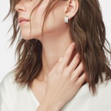 Modern Chain Small J Hoop Earring in Silver