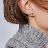 Legends Naga Stud Earring in Silver