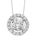 14kw diamond pendant with halo