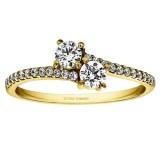 RM1389 - Diamond Two Stone Ring