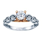 White Gold Round Cut Diamond Infinity Engagement Ring