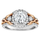 Round Diamond Halo Diamond Engagement Ring