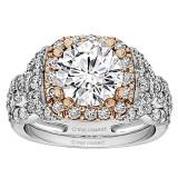 Round Diamond Infinity/Halo Engagement Ring
