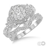14k White Gold .60ct tw LoveBright Diamond Wedding Set