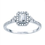 Rm1345e-14k White Gold Emerald Cut Halo Diamond Engagement Ring