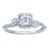 Rm1407r-14k White Gold Halo Engagement Ring