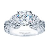 Rm985-14k White Gold Infinity Engagement Ring