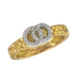 18K Yellow Gold Old Basketweave Ring