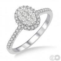 14k White Gold LoveBright Ring .50ct tw