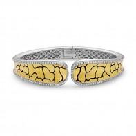 Sterling Silver & 18Ky Python Bracelet Containing 154 Rds=1.40Ctw (K/L, I1)