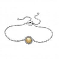 Sterling Silver & 18Ky 8Mm Firefly Bolo Bracelet
