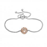 Sterling Silver & 18Kp Ivy Lace 8Mm Bolo Bracelet