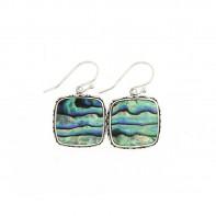 Samuel B. Sterling Silver Square Balinese Design Abalone Earrings