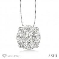 .25ct tw LoveBright Diamond Pendant 14KW