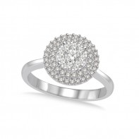 1/2 Carat T.W. Round Double Halo Lovebright Ring.
