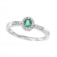 14kw emerald and diamond ring