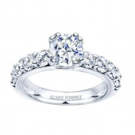 Rm1101-14k White Gold Classic Engagement Ring