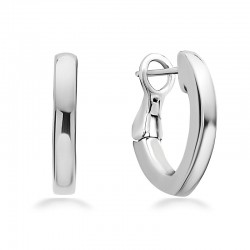 Sterling Silver V Hoop Earring