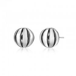 Sterling Silver Birdcage Stud Earrings