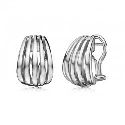 Sterling Silver Birdcage Huggie Earrings
