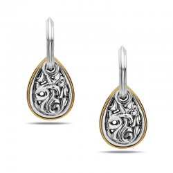 Sterling Silver & 18Kyg Pear Drops