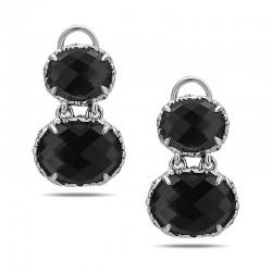 Skye Collection Sterling Silver Hematite Double Drop Earrings
