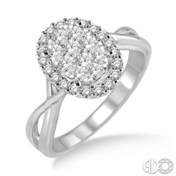 14k White Gold .50ct tw LoveBright Ring