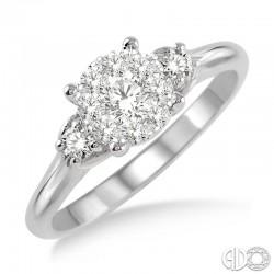 14k White Gold .45ct tw LoveBright Diamond Ring