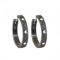 Florentine 20mm Moonstone Silver Hoop Earrings