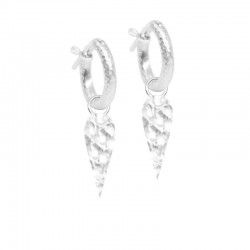Forged Angel Wings 20mm Silver Earring Charms (Charms only)