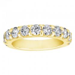 14KY 1/4ctw Diamond Wedding Band